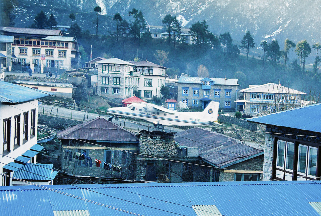 The incredibly steep runway at Lukla (60m vertical difference end to end!)