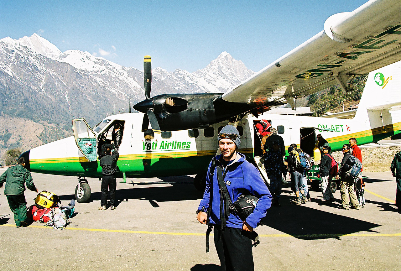 We made it!!  Flight back to Kathmandu from Lukla