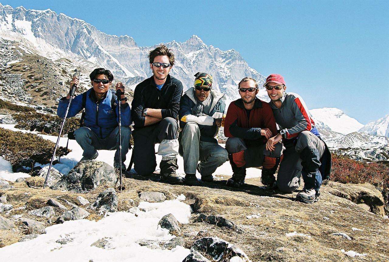 Tek (porter), Richard, Pradip (Guide), Michael, Me