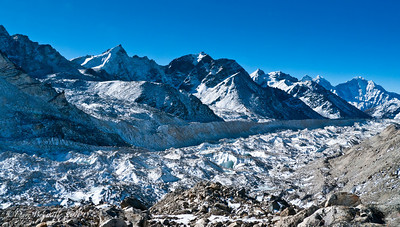 The Ice Fields start as you get further into the EBC Trek.