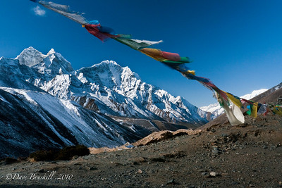 Prayer flags are everywhere in the Himalayas