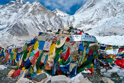 Everest Base Camp in the Himalya Mountain Range of Nepal
