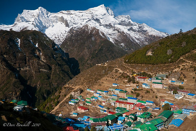 The Town of Namche Bazzar, on route to Everest Base Camp.