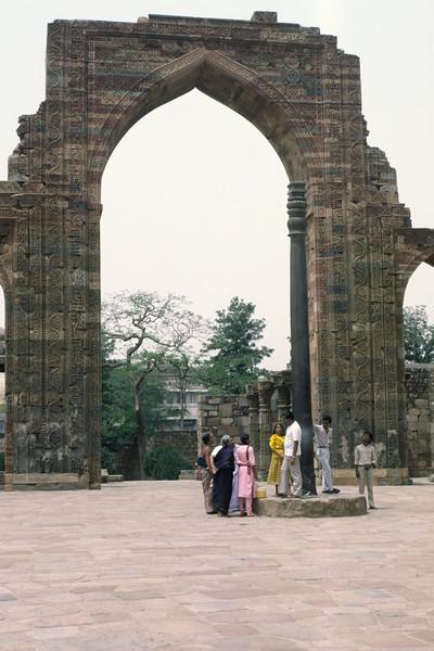 The iron pillar in Delhi