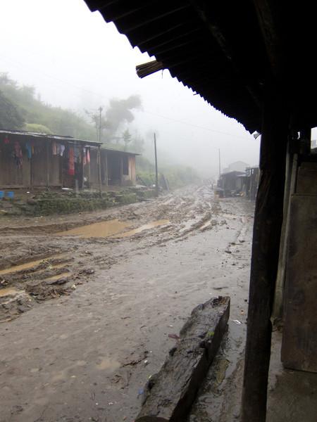 Sort of the beginning of the trek - bit of a rain delay