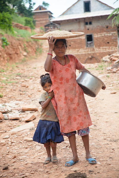 Majhi mother and child