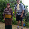 in her traditional Tamang outfit seeing us off with a Buddhist scarf for safe travel
