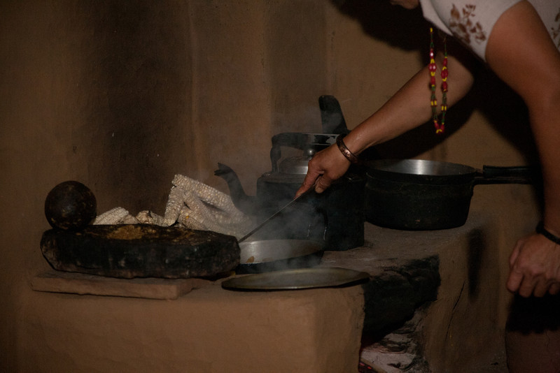 the lady of the house spent a good part of the day preparing and cooking the meals usually tradition Dahl