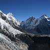 The mountain at the back is Khumbutse (6,640 metres) on the Nepal/Tibet border (as is Everest).
