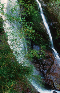 Waterfall in Ghunsa Khola valley near Amjilosa