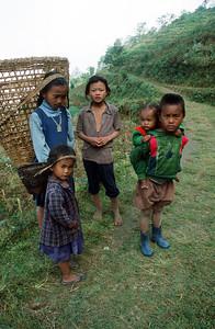 Children near village of Bhotegaon