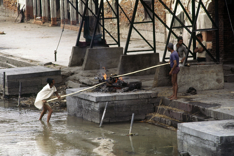 Cremation at one of the ghats.