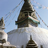 The stupa at Swayambhunath