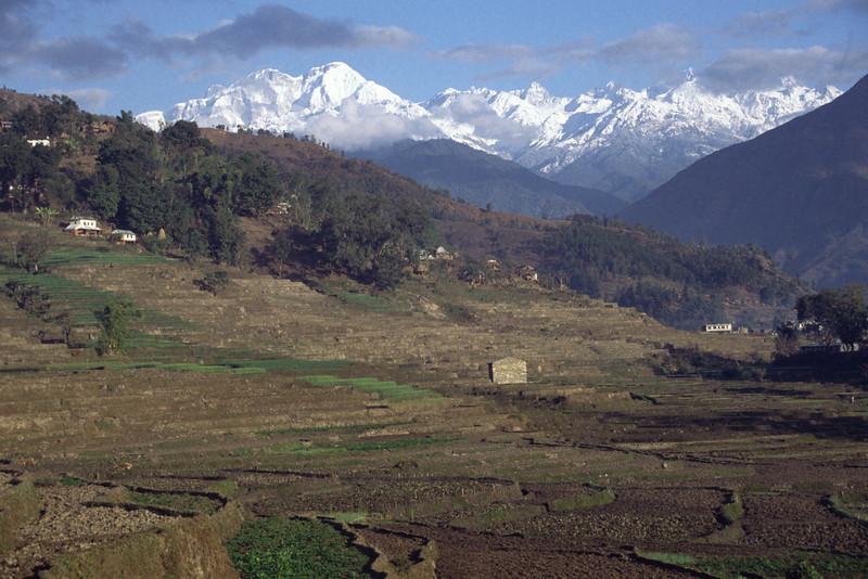 View towards Annapurna himal from Besi sahar.