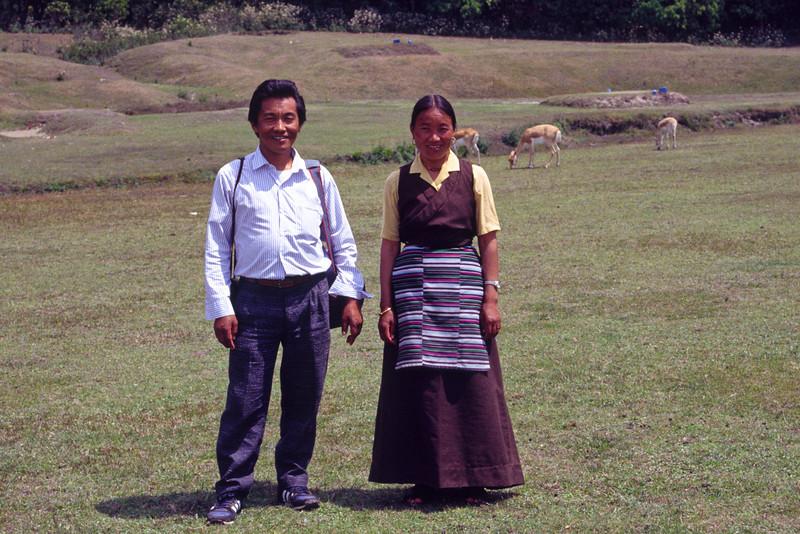 My sherpa Temba Lama with wife Dikku.