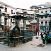 Shrines and incense holders around the temple.