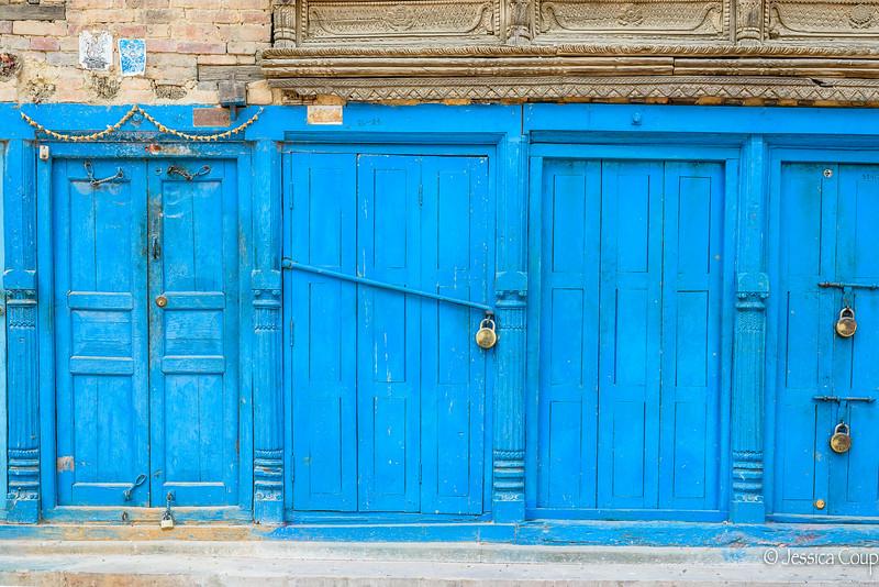 Blue with Locks