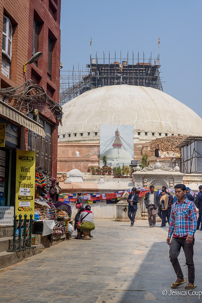 Renovation of the Boudhanath Stupa After the Earthquake
