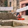 Woman Making Yarn