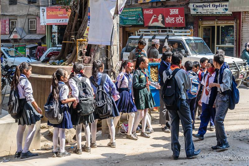 Girls Against the Boys During Holi Celebration