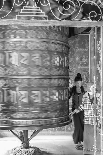 Large Prayer Wheel at Boudhanath
