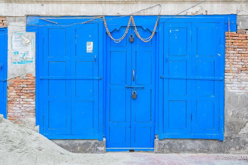 Vibrant Blue Door