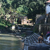 The Bagmati River - upstream from the Pashupati Mandir (the cremation/pilgrmage area).