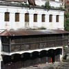 This is a dharmsala (pilgrims' rest house) where devout Hindus approaching death are housed. There are several like this along the river in this area.