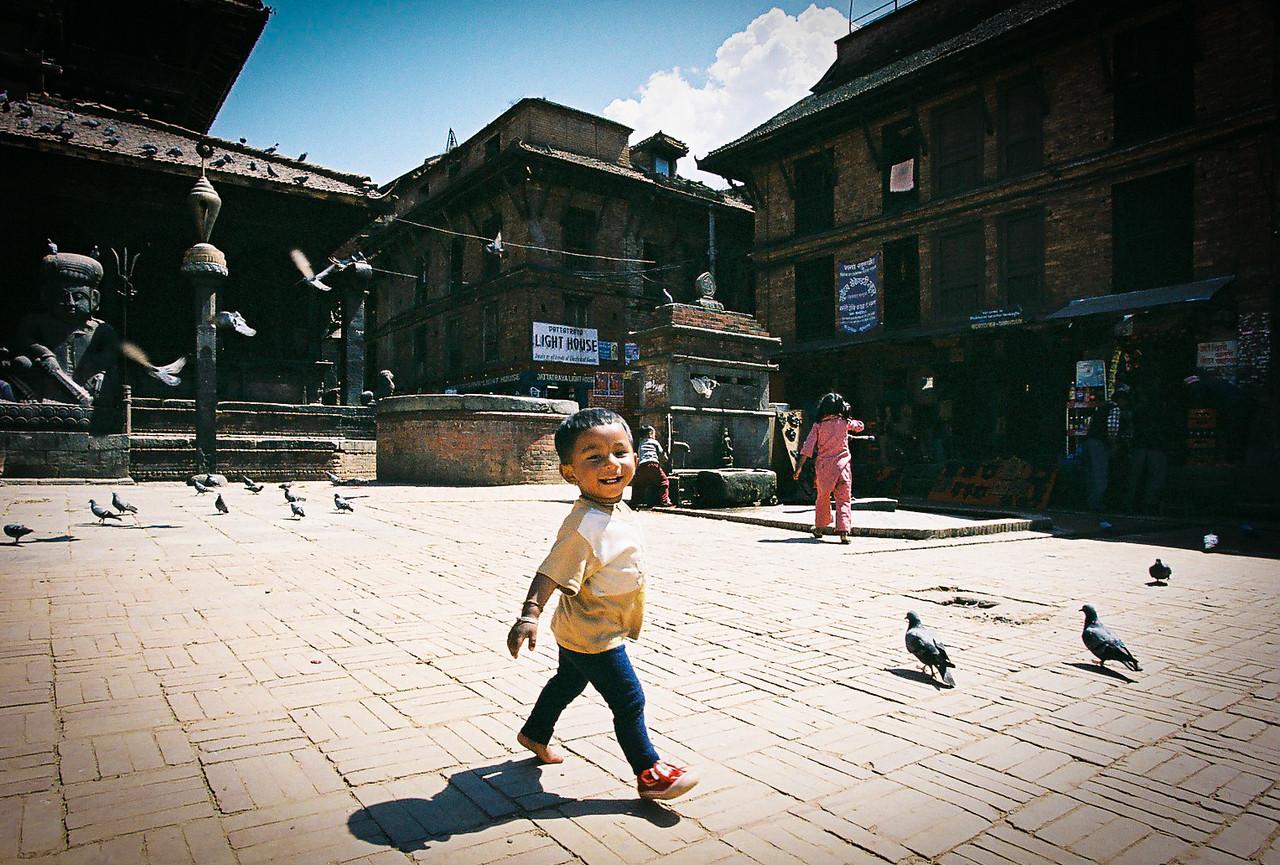 Child in Dattatraya Square, Bhaktapur