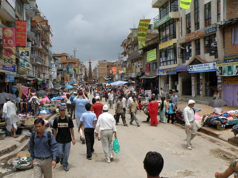Crowds near the markets