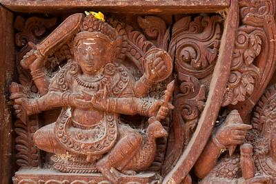 Carving in Durbar Square, Kathmandu, Nepal