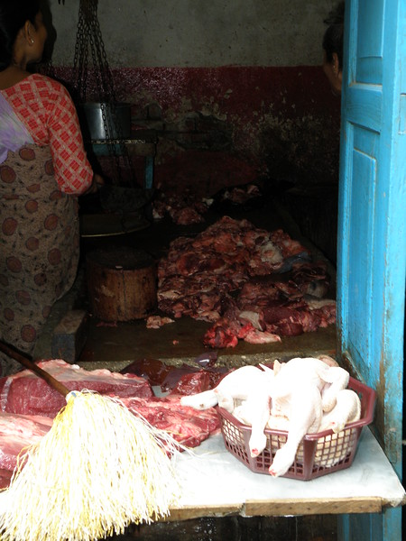 Raw meat on display for sale