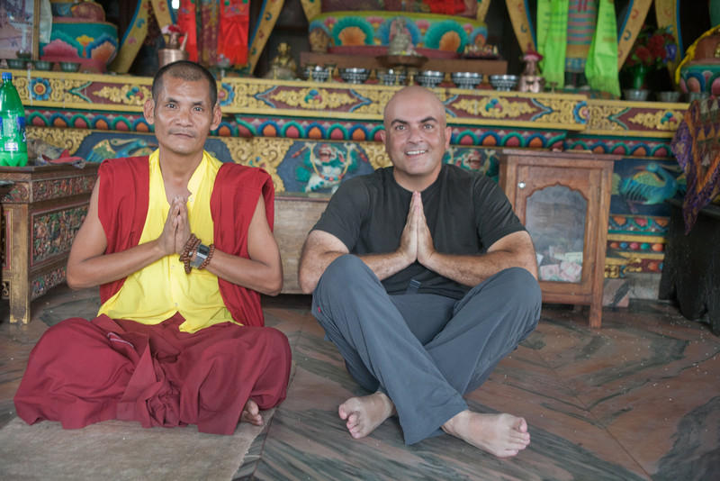 I asked if I can take their pictures, and one of the monks grabbed my camera and had me sit next to the other monks to get me in the pictures with them. Seeing my shaved head they thought I was one of them.