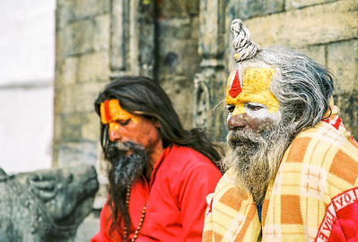 Gurus at Pashupatinath,