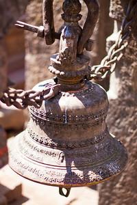 """Bell — Swayambhunath Stupa. (aka, """"Monkey Temple""""), Kathmandu, Nepal"""