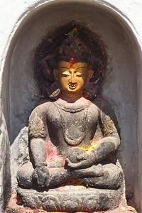 """Statues — Swayambhunath Stupa. (aka, """"Monkey Temple""""), Kathmandu, Nepal"""