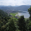 Pokhara, looking at the town and lake from the Castle hotel