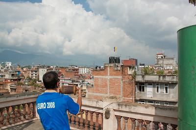 Rooftop kite battle — Kathmandu, Nepal