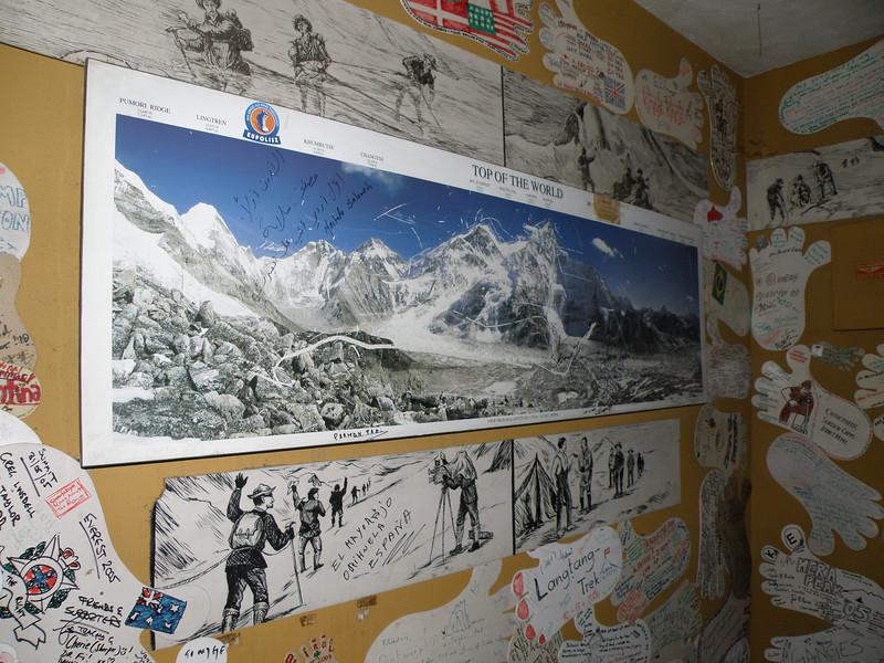 Map of Everest in Rum Doodle