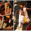 Sadhus are always colorful characters.  I especially like the guy who is achieving moksha by standing on one leg with the other one behind his head.  I'd like to take him to my yoga class.