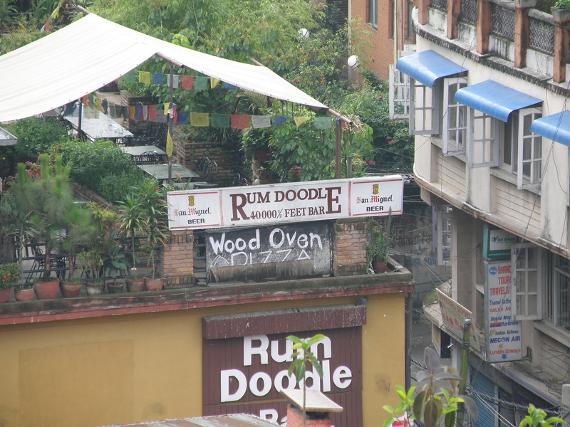 Rum Doodle as seen from the top of the hotel