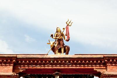 Entrance to Shiva shrine — Durbar Square, Kathmandu, Nepal