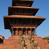 A temple dedicated to Laxmi, the Hindu goddess of prosperity, in Bhaktapur.  It was finished in 1702.