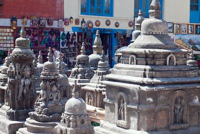"""Chorten — Swayambhunath Stupa. (aka, """"Monkey Temple""""), Kathmandu, Nepal"""
