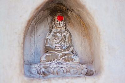 """Tiny statue @ Swayambhunath Stupa. (aka, """"Monkey Temple""""), Kathmandu, Nepal"""
