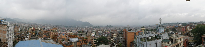 Panorama of Kathmandu from the top of the hotel