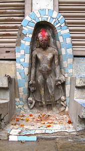 Ancient statue of Buddha, just sitting on the side of the street! — Kathmandu, Nepal