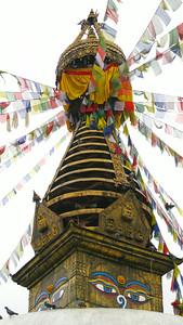 A stupa, somewhere in Kathmandu, Nepal