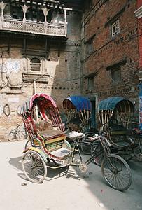 Rickshaws in Durbar Square, Kathmandu