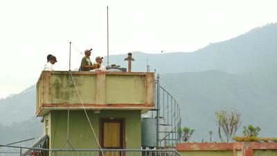 Rooftop kite battles over Kathmandu, Nepal